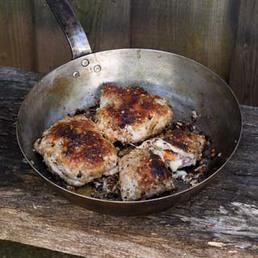 Grilliertes Cordon bleu mit Aprikosen