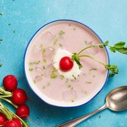 Soupe de radis rouges