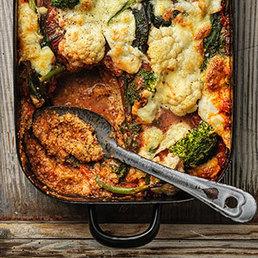 Polenta al forno et sugo de légumes