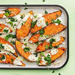 Orientalische Baked Sweet Potatoes