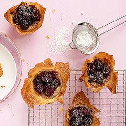 Tartelettes aux mûres et aux amandes