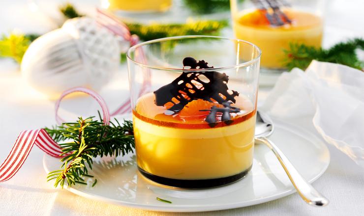 Mandarinen-Caramel-Flan