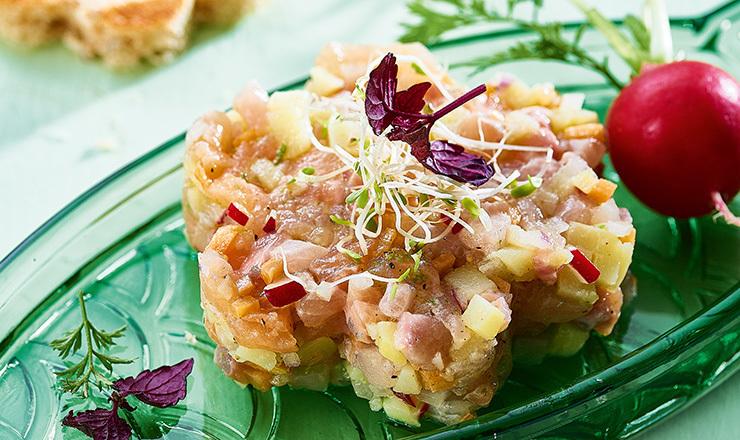 Limetten-Fisch-Tatar