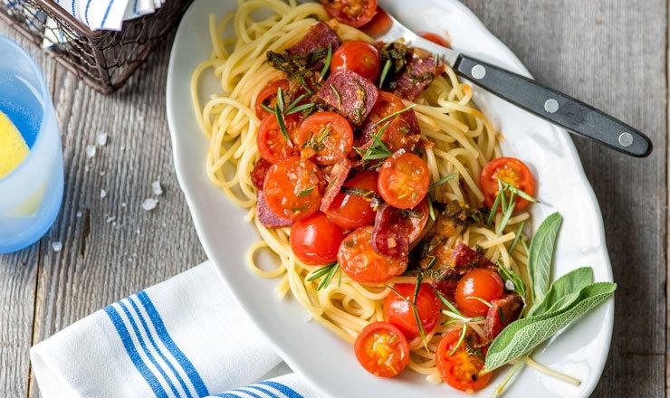 Spaghetti au salsiz