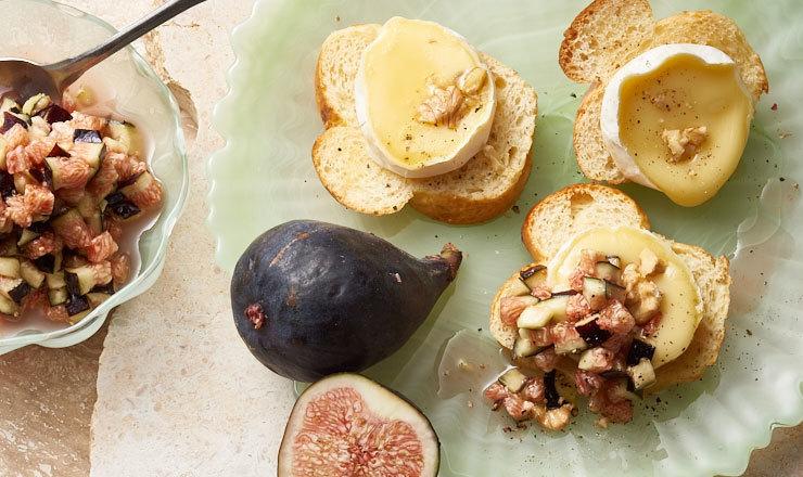 Tartare de figues au fromage de chèvre