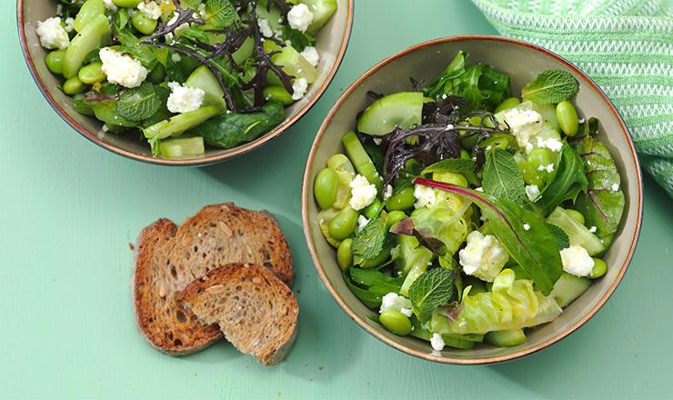 Gurken-Edamame-Salat