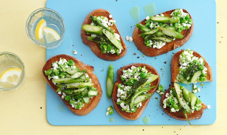 Grüne Toasties