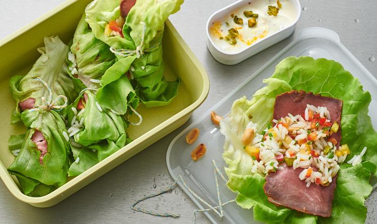 Reis-Salat-Rollen