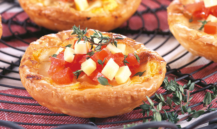 Apero Mini-Quiches mit Vacherin Fribourgeois AOP