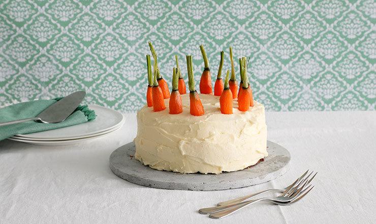 Gâteau aux carottes et à la liqueur d'œuf