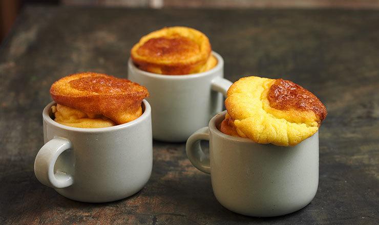 Kartoffel-Blauschimmelkäse-Soufflés