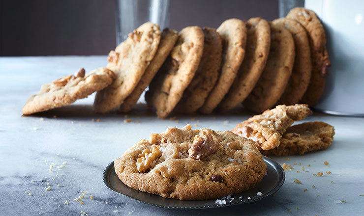 Baumnuss-Cookies mit beurre noisette