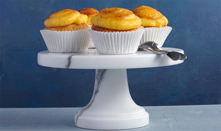 Cupcakes à la crème brûlée