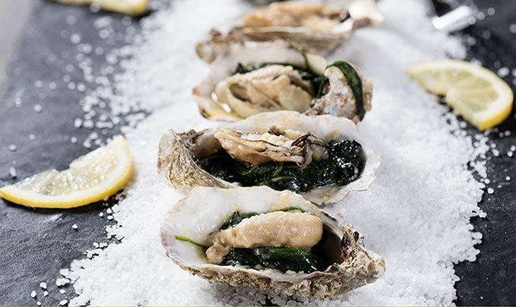 Austern überbacken
