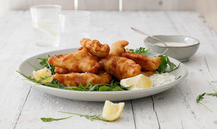 Beignets de poisson et sauce tartare