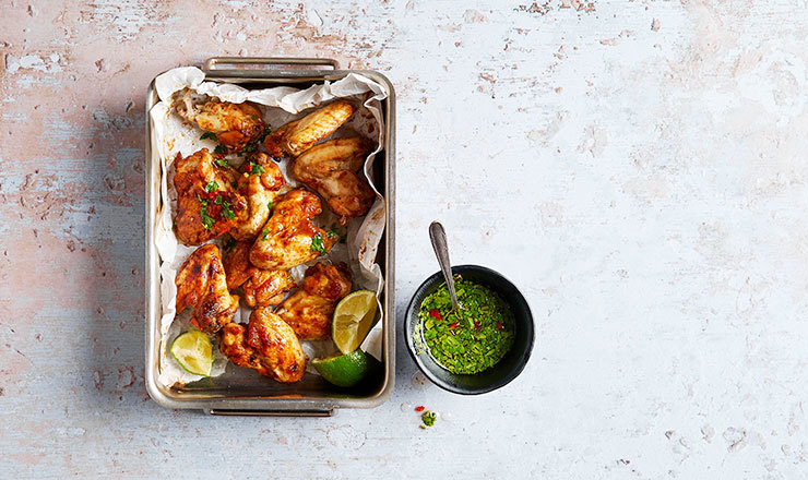 Chicken wings et sauce au gingembre