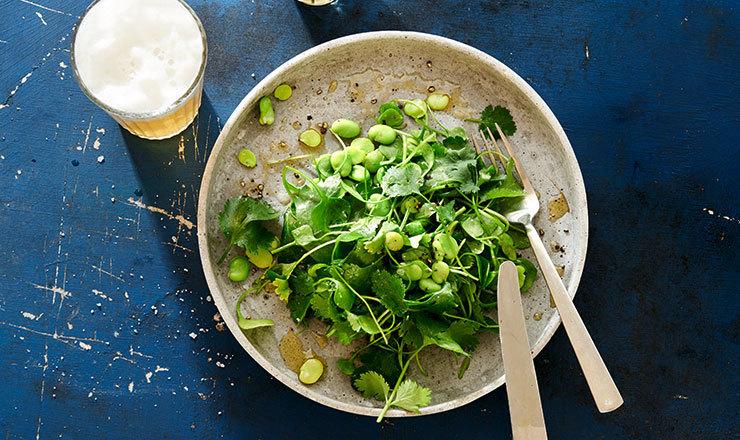 Fava-Bohnensalat