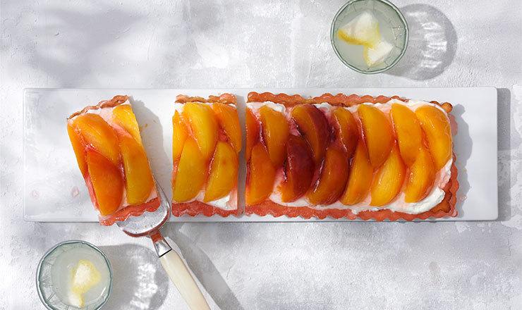 Pfirsich-Jogurt-Tarte