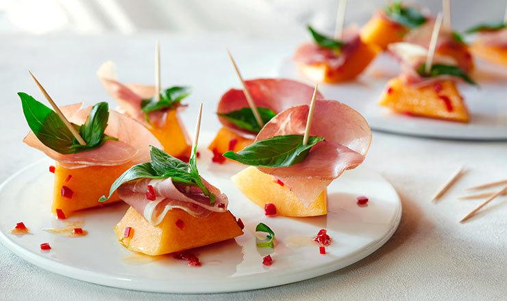 Feurige  Melonenspiesschen