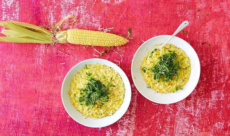Risotto au maïs