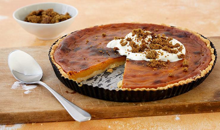 Kürbis-Pie mit Kürbiskern-Crumble