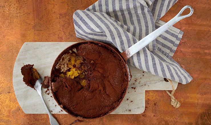 Schokoladenpudding  mit Orangen