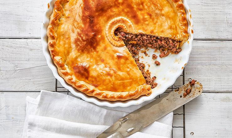 Lamm-Pie mit Pfefferminze