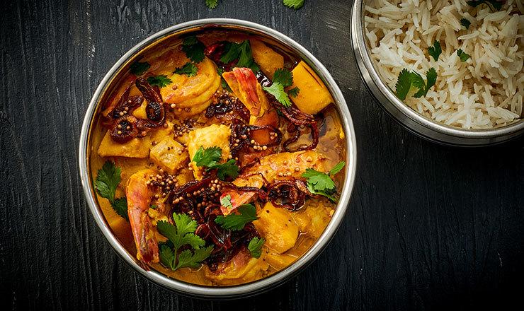 Malabari-Crevetten-Curry