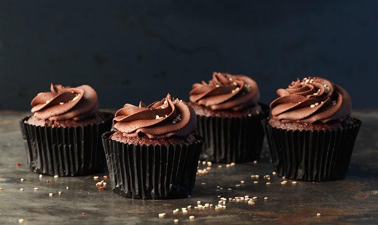 Cupcakes au chocolat et au sésame