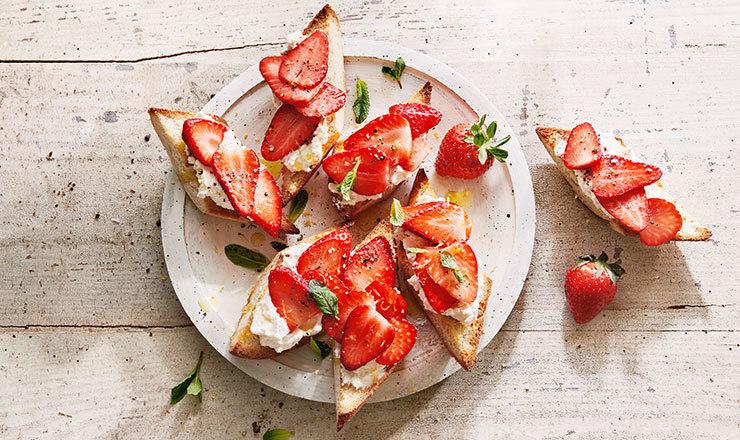 Erdbeer-Crostini