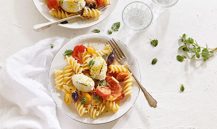 Pasta mit gebackenem Ricotta