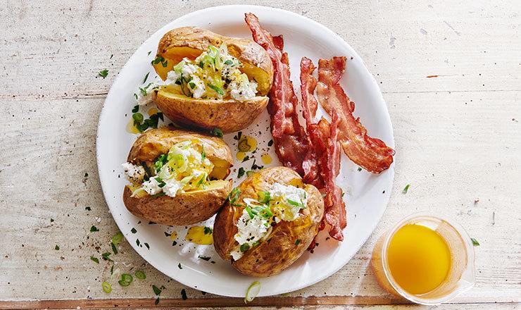 Baked Potatoes mit Ricotta