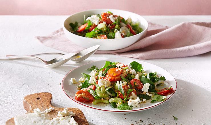 Erdbeer-Tabouleh mit Feta