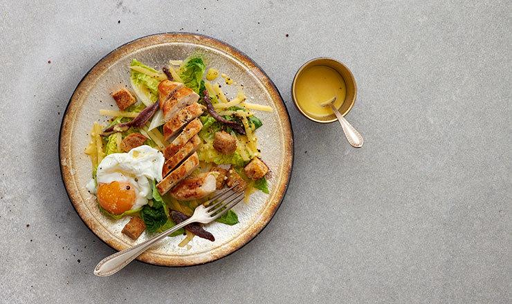Salade César  au blanc de poulet