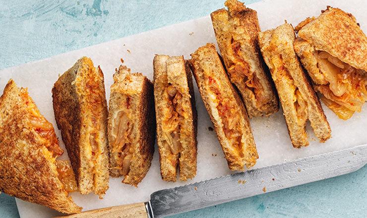 Kimchi-Käse-Toast